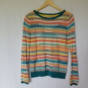 ANTHROPOLOGIE SPARROW STRIPED SWEATER TOP SIZE S